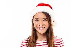 Close up portrait of a smiling young asian girl Stock Photo