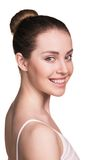 Close-up portrait of smiling young woman Royalty Free Stock Photo