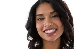Close up portrait of smiling young woman Stock Photo