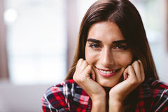 Close-up portrait of smiling young woman Royalty Free Stock Image