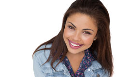 Close-up portrait of a smiling young woman Royalty Free Stock Image