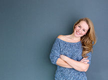 Close up portrait of a smiling young woman Royalty Free Stock Photo