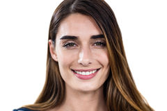 Close-up portrait of smiling young woman Stock Images
