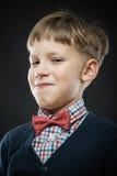 Close up portrait of smug boy Royalty Free Stock Photography