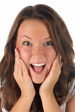 Close-up portrait of surprised girl Royalty Free Stock Photo