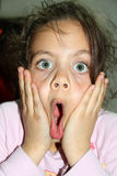 Close-up portrait of surprised girl Stock Photography