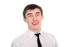 Close-up portrait of a surprised young businessman Royalty Free Stock Photography