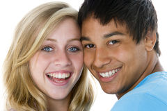 Close-Up Portrait Of Teenage Couple Royalty Free Stock Image