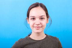 Close up portrait of teenager girl stock photos