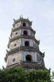 Close up portrait of Thien Mu buddha tower Stock Photos