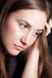 Close-up portrait of thoughtful woman Royalty Free Stock Images