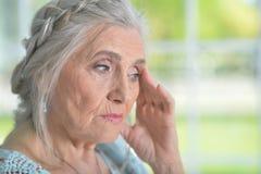 tired senior woman Royalty Free Stock Image
