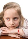 Close-up portrait of upset girl Royalty Free Stock Image