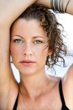 Close-up portrait of woman. Royalty Free Stock Photos
