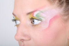 Close-up portrait of woman with creative make-up Royalty Free Stock Photos
