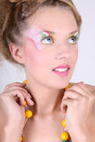 Close-up portrait of woman with creative make-up Stock Photo