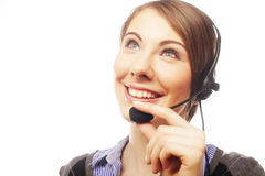 Close up portrait of Woman customer service worker Stock Photos