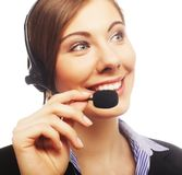 Close up portrait of Woman customer service worker Royalty Free Stock Images