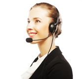 Close up portrait of Woman customer service worker Stock Photography