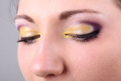 Close-up portrait of woman with make up Stock Photography