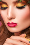 Close up portrait of woman with professional make up Royalty Free Stock Photography