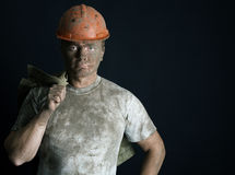 Close-up portrait worker man Royalty Free Stock Image