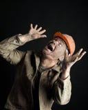Close-up portrait worker man Stock Photos