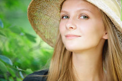 Close-up portrait of young Stock Image