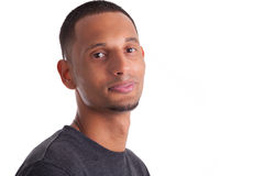 Close up portrait of a young african american man Stock Image