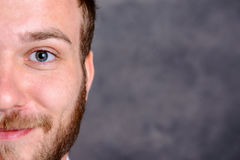 Close up - portrait of a young, bearded man Royalty Free Stock Photo
