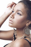 Close-up portrait of young beautiful african woman Royalty Free Stock Photo
