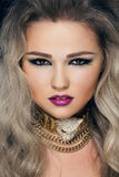Close-up portrait of young beautiful woman Royalty Free Stock Photography