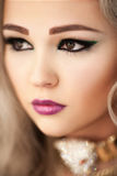 Close-up portrait of young beautiful woman royalty free stock image