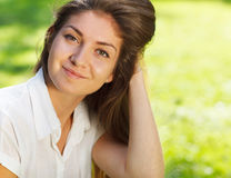Close up portrait of young beautiful woman Stock Photography