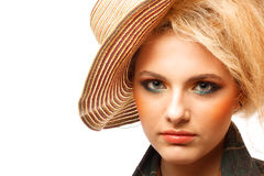 Close-up portrait of young beautiful woman Stock Image