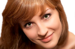 Close-up portrait of young beautiful women. Close-up portrait of young beautiful woman Royalty Free Stock Photography