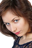 Close up portrait of young beauty woman Royalty Free Stock Photos