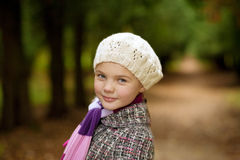 Close-up portrait of young blonde girl Stock Image