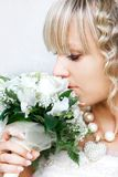 Close up portrait of young bride Royalty Free Stock Photography