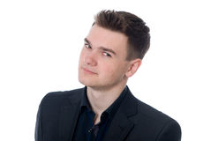 Close-up portrait of a young business man. Stock Images