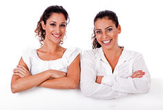 Close up portrait of young business women's Royalty Free Stock Photography