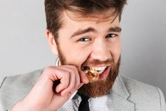 Close up portrait of a young businessman Stock Images