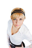 Close up portrait of young businesswoman Stock Photo