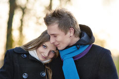 Close-up portrait of young caucasian couple Stock Photography