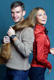 Close up portrait of young couple Royalty Free Stock Photography