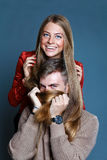 Close up portrait of young couple Stock Photography