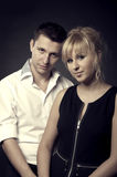 Close up portrait of a young couple together Stock Photos