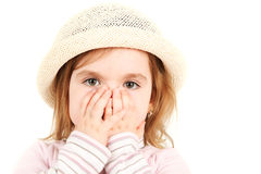 Close-up portrait of young girl Royalty Free Stock Photos