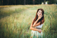 Close Up Portrait Of Young Happy Beauty Red Hair Royalty Free Stock Photo
