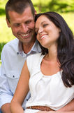 Close up portrait of young happy couple Royalty Free Stock Photos